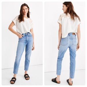 NWT Madewell The Momjean Jeans